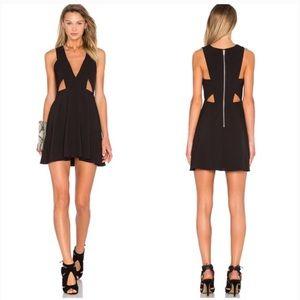 NBD x naven twins black cut out mini dress